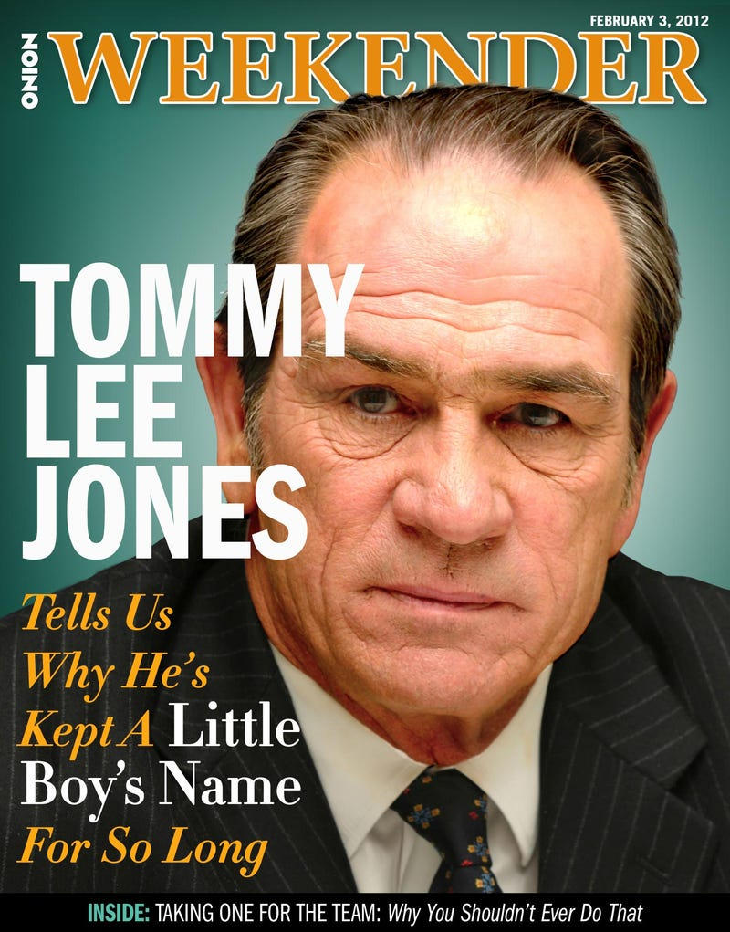 Illustration for article titled Tommy Lee Jones Tells Us Why He's Kept A Little Boy's Name For So Long