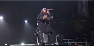 Rapper Kanye West at the 12-12-12 Concert for Sandy Relief (YouTube)