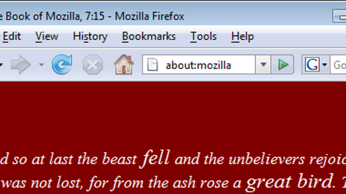 Inside Firefox's about: pages