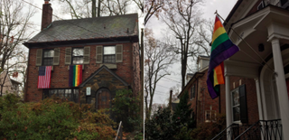 Gay-pride flags raised in Vice President-elect Mike Pence's Washington, D.C., neighborhoodTwitter
