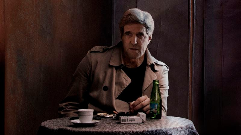 Illustration for article titled John Kerry Sits In Shadows Of Kiev Café Awaiting Woman Known Only As Dasha