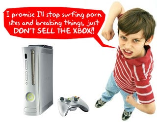 Illustration for article titled Kid Breaks Vacuum to Play Xbox Instead of Doing Chores; Mom Sells Xbox, Pranks His MySpace