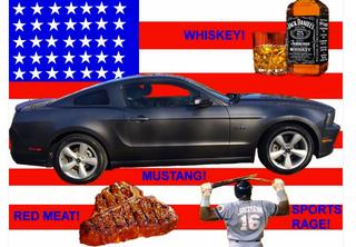 Illustration for article titled 2014 Ford Mustang GT, Jack Daniels, T-bone Steak, & Live Baseball!