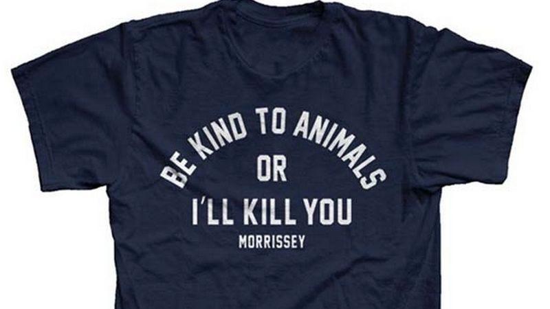 "Illustration for article titled Morrissey swipes Doris Day's ""I'll kill you"" T-shirt slogan, gets credit/blame"
