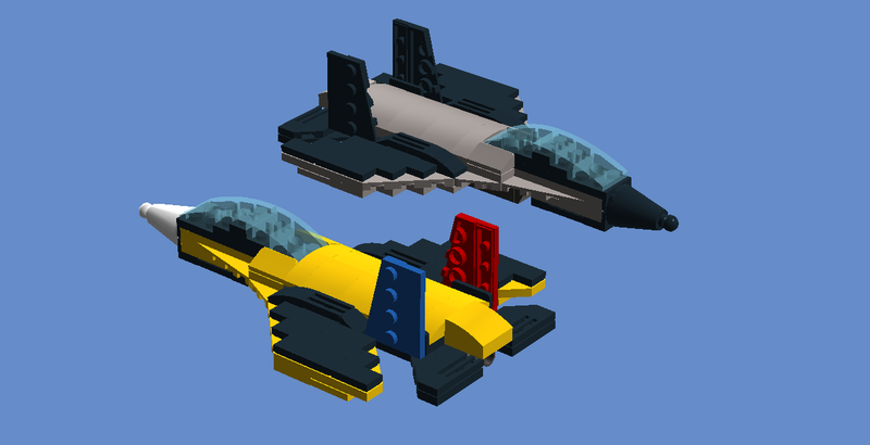 Illustration for article titled I made a jet fighter in LEGO Digital Designer