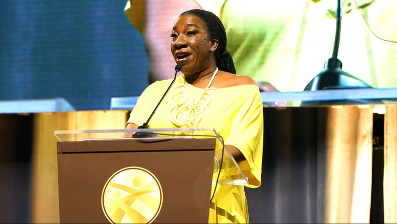 Tarana Burke, honoree and activist, founder of the #MeToo movement, accepts an award at the National CARES Mentoring Movement's For the Love of Our Children Gala on Jan. 29, 2018, in New York City.