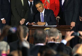 President Obama signs 'Don't ask, don't tell' repeal bill.