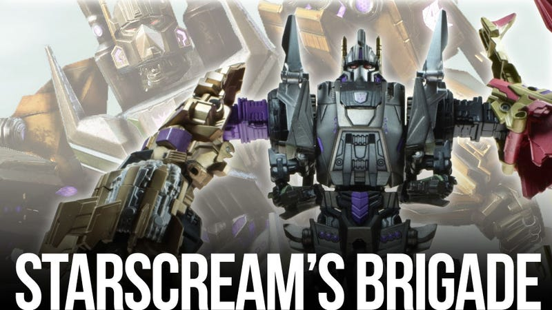 Illustration for article titled Bruticus Leads Transformers: Fall of Cybertron's Toy Store Invasion
