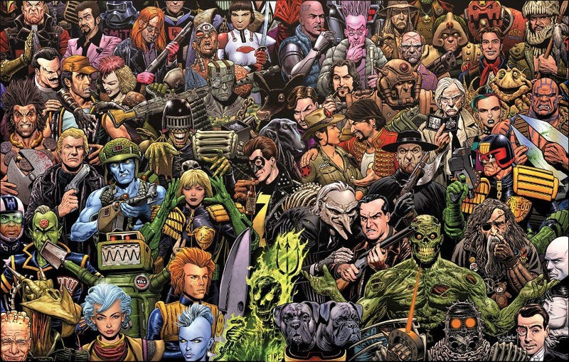 Illustration for article titled Celebrating the art of 2000AD
