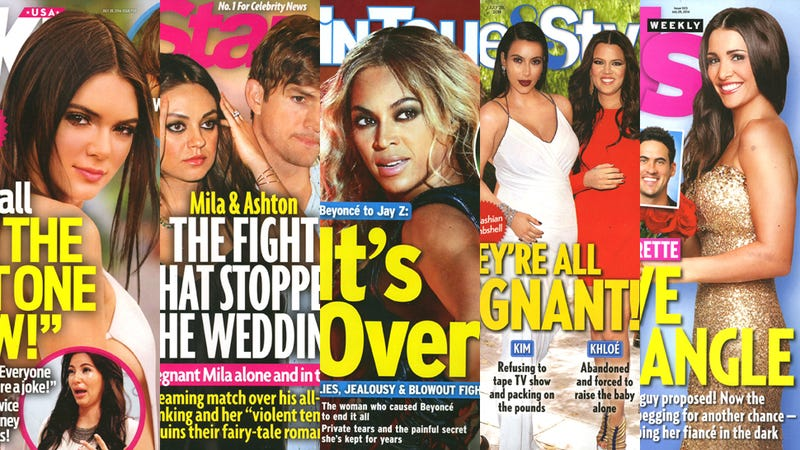 Illustration for article titled This Week in Tabloids: Kim Cries as Kendall Is Declared 'The Hot One'