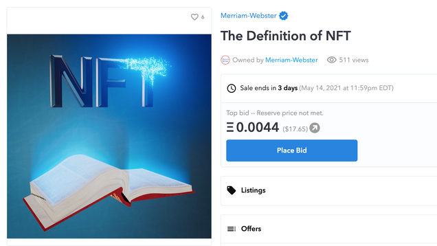 Merriam-Webster Is Selling the Definition of NFT as an NFT, Which Means You Can Own... Something, Sort Of