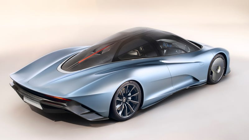the 2019 mclaren speedtail has flexible carbon fiber that bends and
