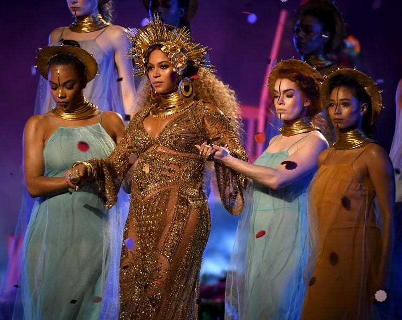 Beyoncé, second from left (Kevork Djansezian/Getty Images)