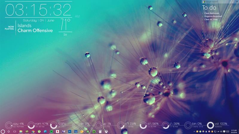 Desktop without Audio Visualizer