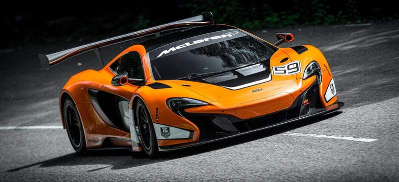 Illustration for article titled The 650S GT3 Is McLaren's Sinister Lightweight Hardcore Racer