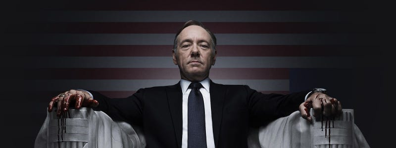 Illustration for article titled Let's talk about Frank Underwood and white men in the pictures.