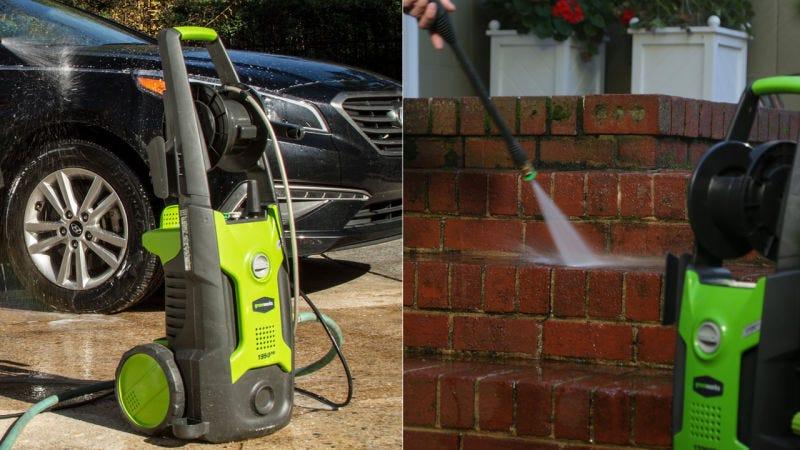 Limpiador a presión GreeWorks   $91   Amazon