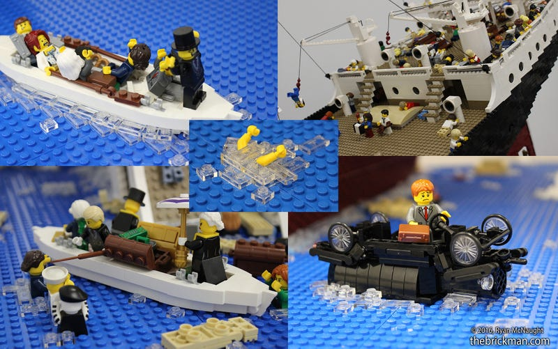 120,000-Piece Lego Model of the Titanic Breaking in Half Is Heartbreakingly Beautiful