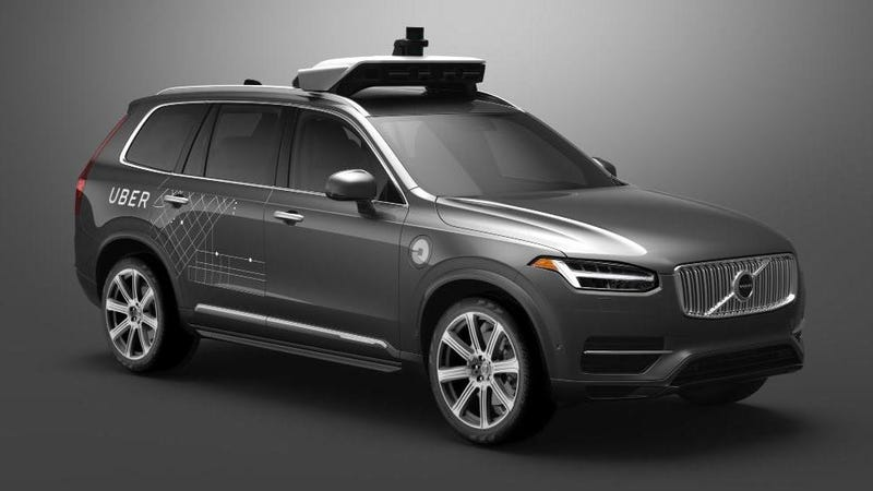 Illustration for article titled Uber's Autonomous Test Cars Had Volvo's Safety Systems Disabled