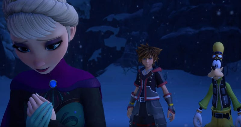 Illustration for article titled Disney's Frozen Is A World In Kingdom Hearts III