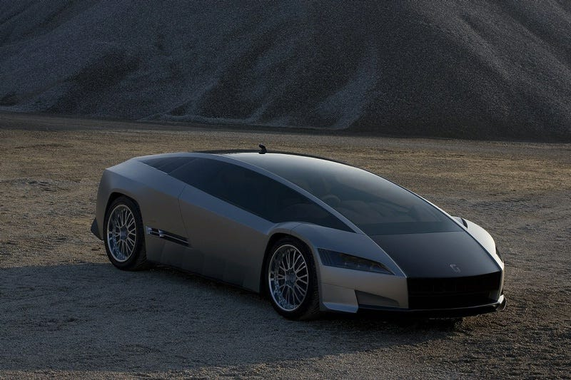 Illustration for article titled Giugiaro Quaranta Concept Fully Revealed, Has Toyota Hybrid Drive Under Strangely Sloping Hood-Windshield Thing