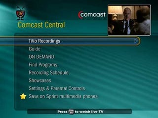 Illustration for article titled TiVo-Skinned Comcast DVRs Will Cost $2.95 Extra