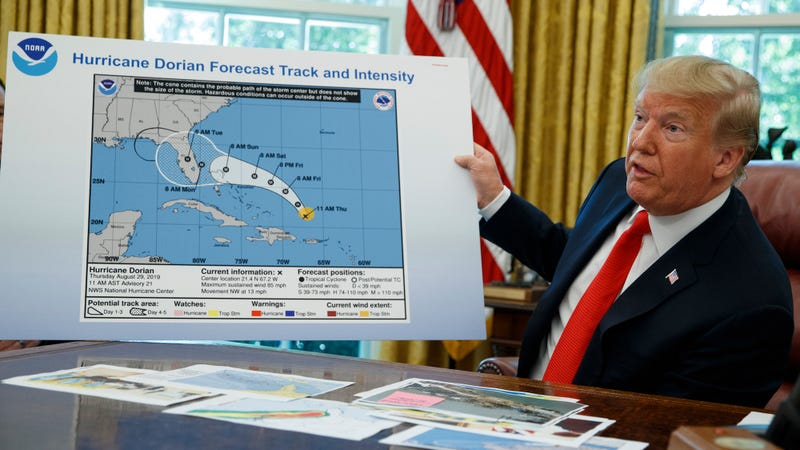 Illustration for article titled Hurricane Dorian Didn't Threaten Alabama, You Say? Clearly, You Haven't Seen Trump's Sharpie Drawing