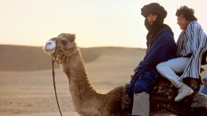 Camel, Warren Beatty, Dustin Hoffman (Screenshot: Ishtar)
