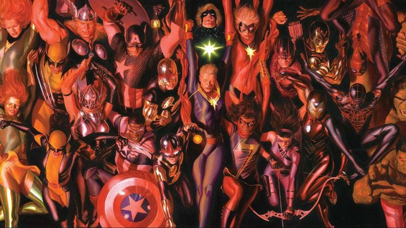 Image by Alex Ross, via Marvel/Twitter
