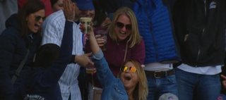 Illustration for article titled Cubs Fan Catches Foul Ball In Her Cup Of Beer, Chugs It