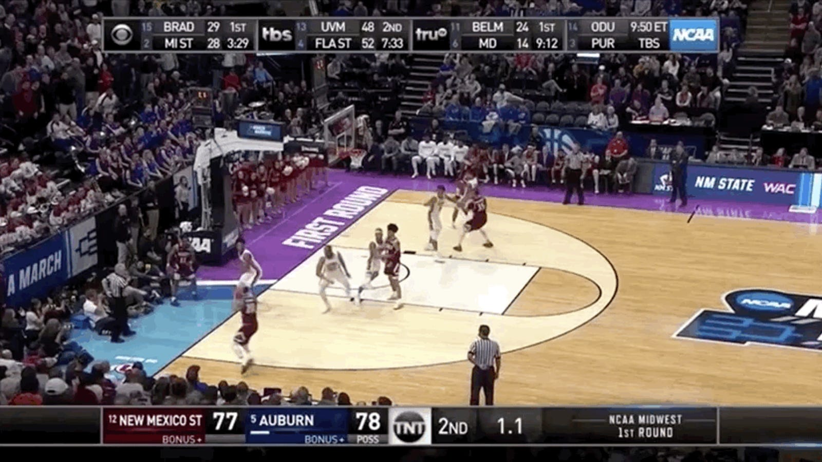 New Mexico State Out-Choked Auburn And Failed To Pull Off The First Real Upset Of March Madness