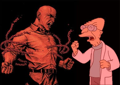 Illustration for article titled Mad Scientist Smackdown finale: Luthor Vs. Farnsworth!