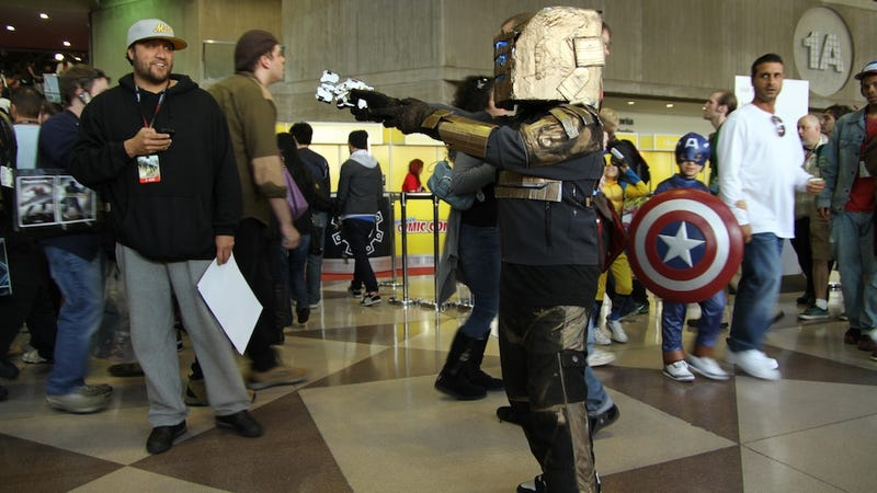 Illustration for article titled New York Comic-Con 2011 Day Four Cosplay with Dead Space Kid and Super Friends