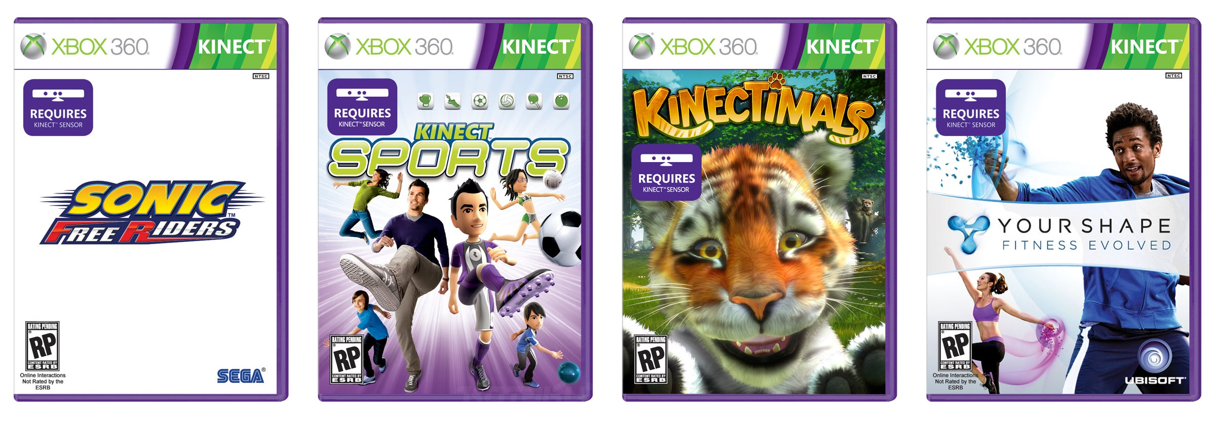 Only For Xbox 360 Games : Kinect games have their own special boxes