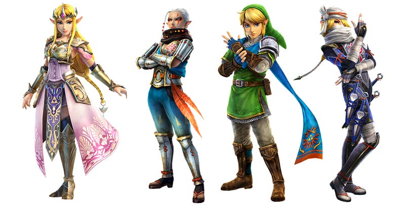Illustration for article titled Zelda se hace mayor: así han cambiado sus personajes en 28 años