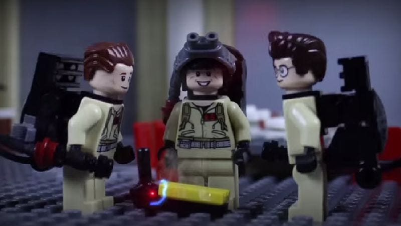 Illustration for article titled Ghostbusters is back, in stop-motion Lego form