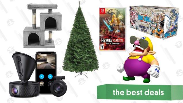 Saturday s Best Deals: Christmas Trees, Cat Condo, Ray-Bans, Dragon Ball Z Manga Set, Vava Dash Cam, and More