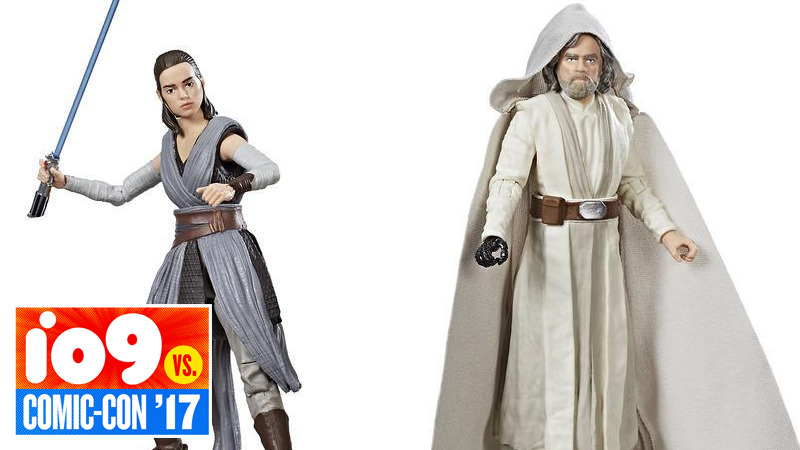 The Last Jedi Star Wars Toys : Luke and rey are the first star wars last jedi action