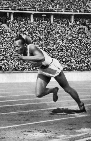 Jesse Owens in 1936CORR/AFP/Getty Images