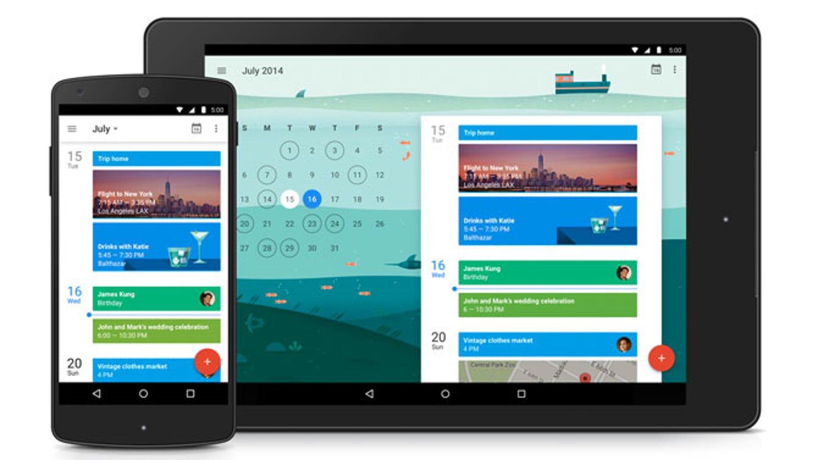 El nuevo Google Calendar para Lollipop quiere organizarte mejor