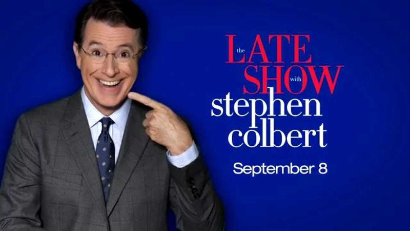 Illustration for article titled Stephen Colbert films test episodes of The Late Show, records GPS directions