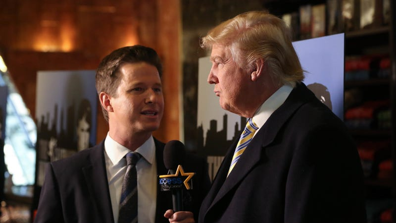 "Trump and ""Access Hollywood's"" Billy Bush in 2015. Image via Getty."