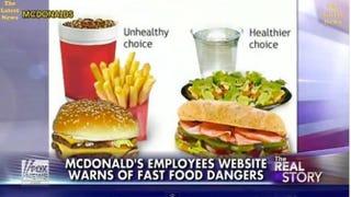Screenshot of McDonald's shuttered McResource Line  Fox News