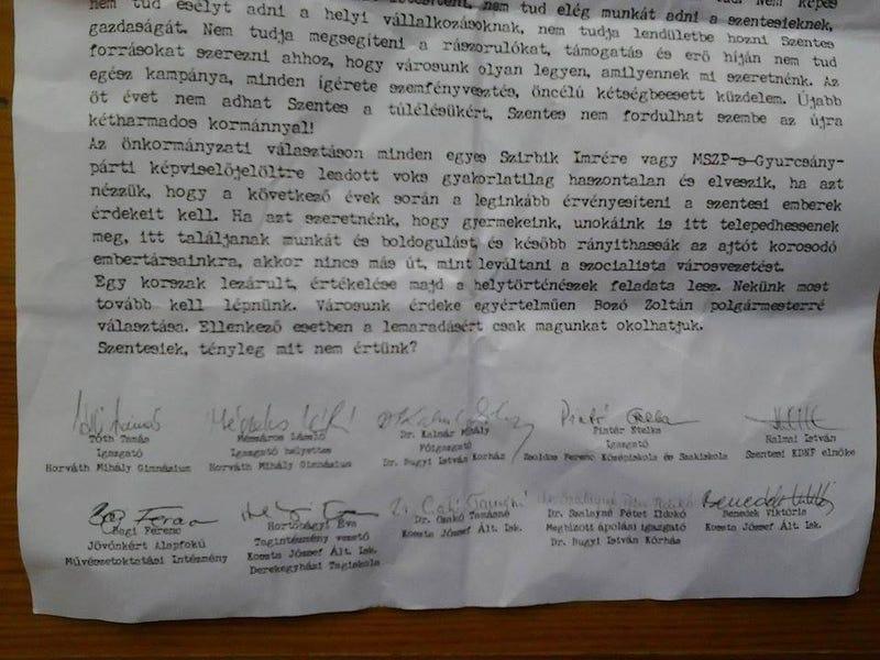 Illustration for article titled A szentesi iskolák vezetőinek aláírásával kampányoltak a Fidesz mellett