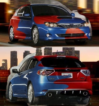 Illustration for article titled The 2008 Subaru Impreza: Real? Fake? Photoshopped? Yes.