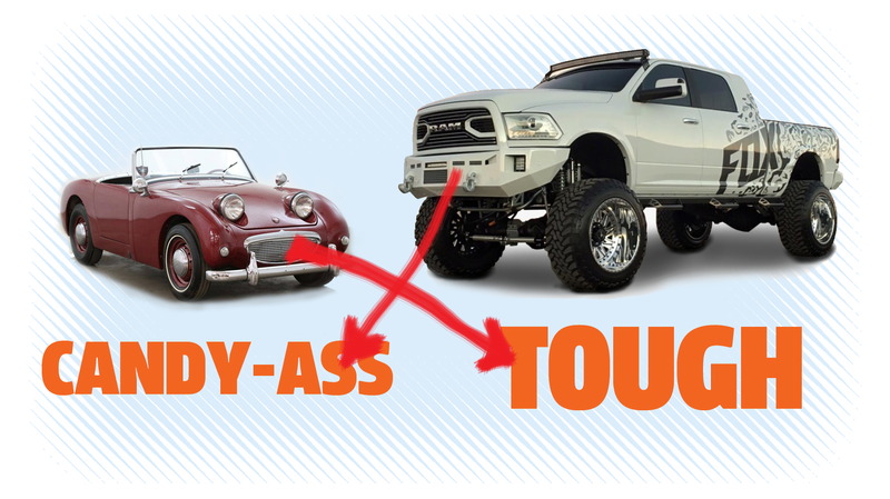 Illustration for article titled A Big-Ass Truck Does Not Make You Tough