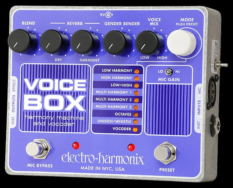 Illustration for article titled Electro-Harmonix Voice Box Auto-Harmonizer Is the Beach Boys to Your Brian Wilson