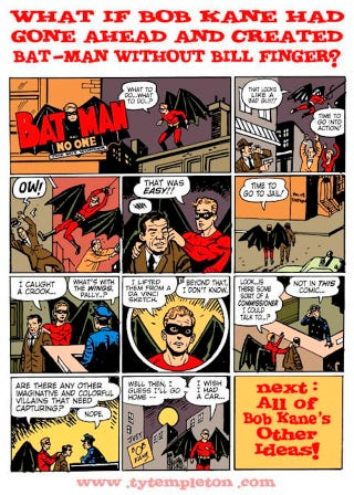 Illustration for article titled Here's how awful Batman would be without the existence of Bill Finger