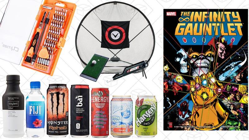 Illustration for article titled Today's Best Deals: Marvel Comics, Golf Practice Set, Beverage Samples, and More