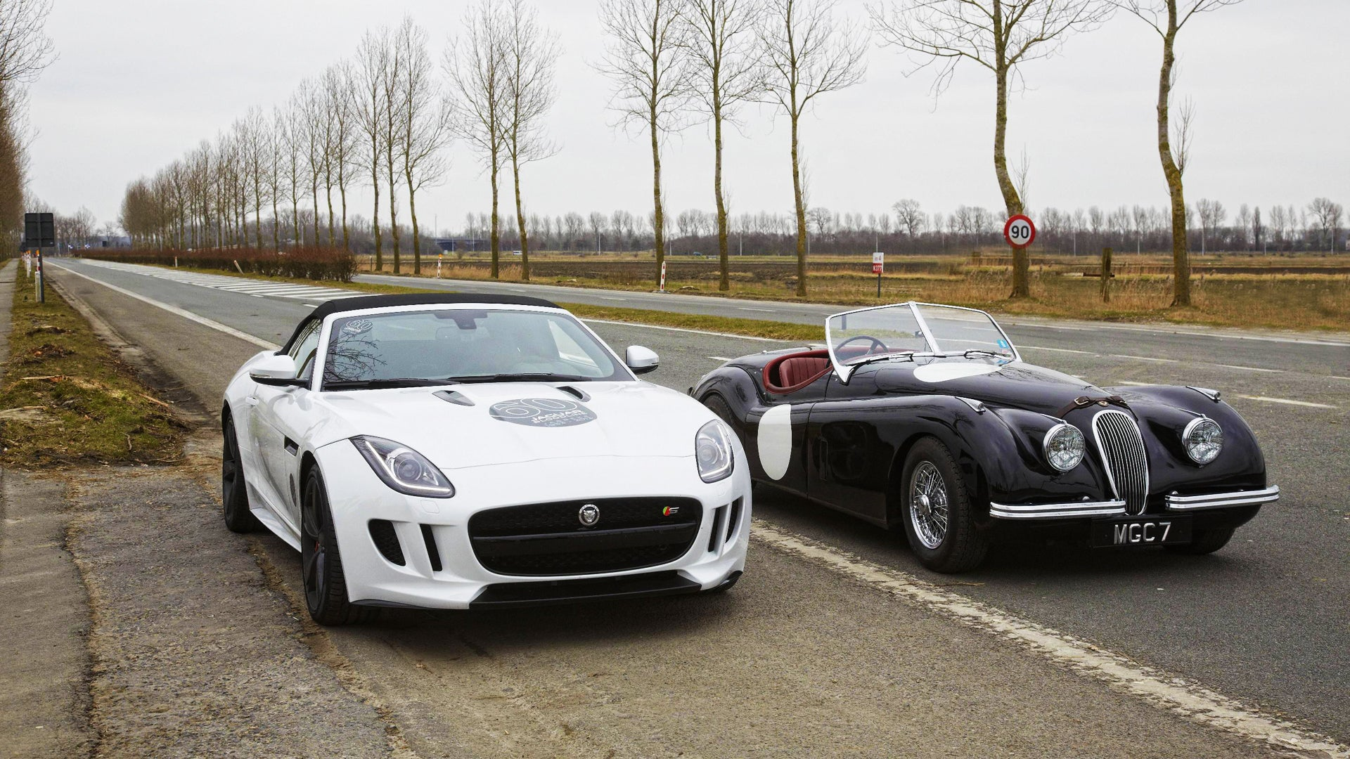 how good does a jaguar f type look next to its classic ancestors. Black Bedroom Furniture Sets. Home Design Ideas